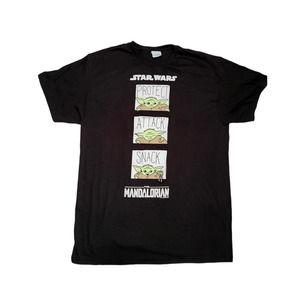 Star Wars The Mandalorian Graphic T-Shirt, Large